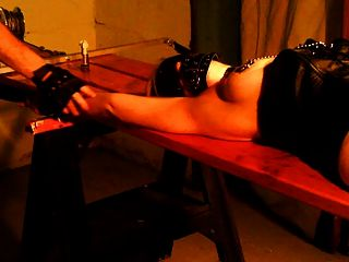 Emily sharpes prison cell bondage and hot waxing punishment 7