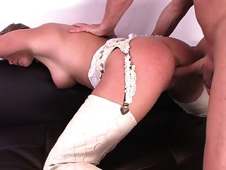British Slut Nikki Gets Fucked By A Guy In Cowboy Boots