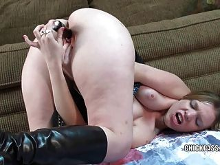 Cute College Girl Wendie Is Playing With Her Toy