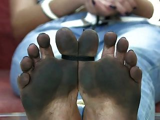 Pleasure with mature oily soles