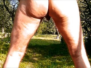 Anal Caterpillar Dildo Naked In The Woods