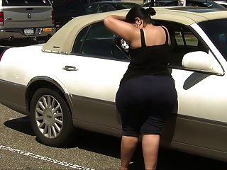 Super Thick Latina Milf In Spandex With Enormous Ass!!