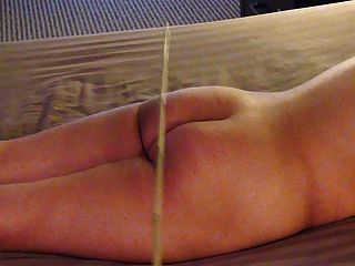 Slut Gets Caned Again