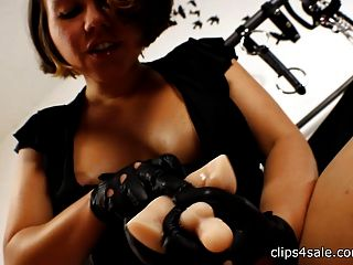 Femdom Leather Glvoes Inside Your Ass Pov