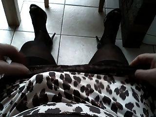 Nylon Slips Black Stockings