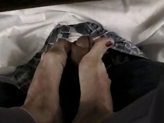 Foot jobs under the table videos
