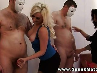 Girls Follow Instructions And Tug Cock For Their Game