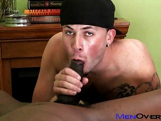 Hot Black Guy Fucks A Cute Tattooed White Boy
