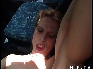 French Slut Gets Sodomized Outdoor And In The Car