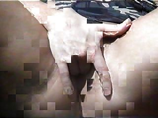 A Friend Of Mine Masturbating For Me In The Back Yard