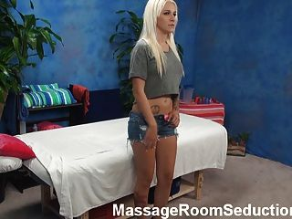 Hot Blonde Seduced By Massage