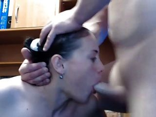 Girl Gives Amazing Blowjob Then Takes Load To Face