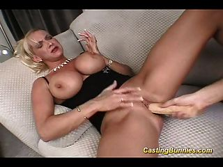 Casting This Big Tits Bunny While Takin Cock Anal Sex