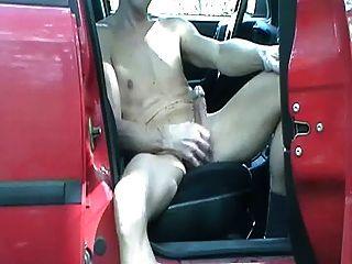 Gay Henndrik Outdoor Car Solo Naked Show Offlie No Cum