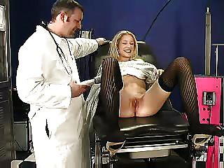 Tight Blonde Gets To Try Every Machine