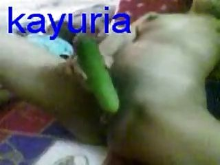 Malay Wife With Cucumber