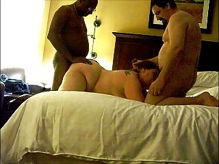 Bbw Wife In Threesome