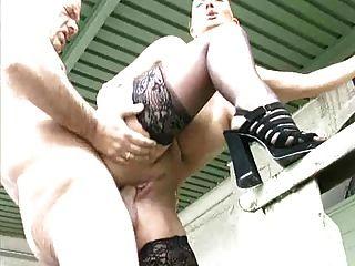 German Slut Outdoor