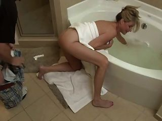 Mother son sex in bath tub