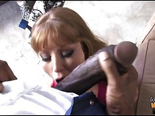 Dirty Mother Fucks 12 Inch Black Cock In Front Of White Son