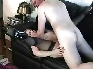 Mature Fucked Hard On Couch