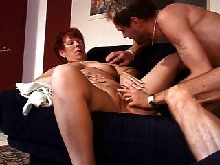 Mature Lady Sex On The Sofa