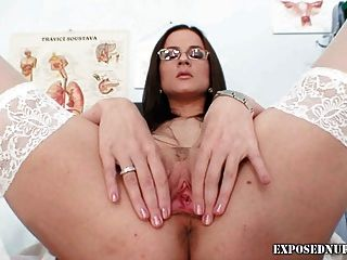 Smoking Hot Nurse Pussy Stretching Closeups