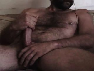 Hot Hairy Daddy Cums