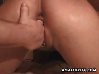 Amateur Girlfriend Toying, Sucking And Fisting At Home
