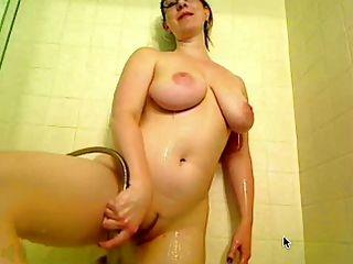 Amber Sexy Shower