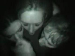 Three Girl Blowjob In Night Club