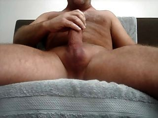 Playing With My Big Thick Cock, Lots Of Cum.... :)