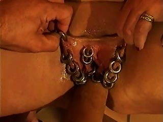 Marina rene heavily pierced german mature