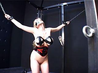 Blonde Slut Gets Hard Tit Treatment