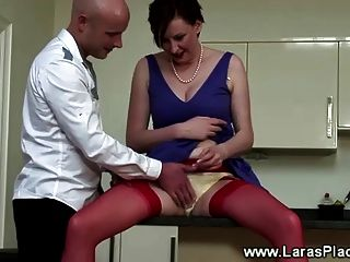 Mature In Stockings Gets Licked Out