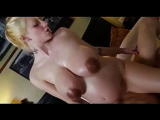 Pregnant lady oils up her huge belly and big tits preggo tmb