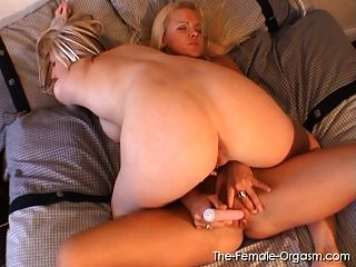 Buxom Blondes Solo And Lesbian Orgasms