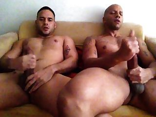 two mates jerk off