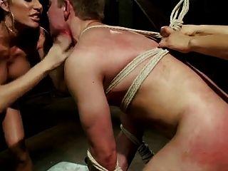 Mistress Fucks Him With Strapon