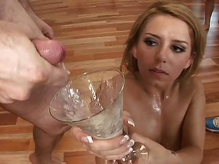 Allie fosters face decorated in cum blowbang - 3 part 3