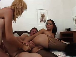 Angel Dark As Cop Catch A Couple In The Road - Threesome