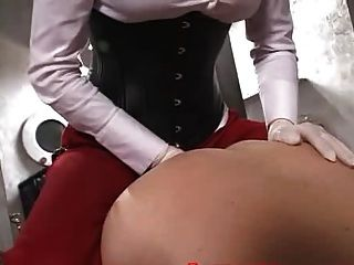 Beautiful Mistress Fucks A Slave With A Strapon