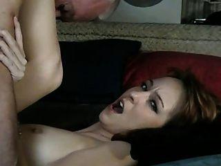 Old Man Fucks Babysitter (he Licks His Own Cum Off Her)