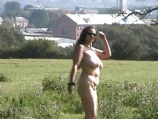 Public Flashing In A Farmers Field