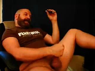 Bear Dad Enjoys A Cigar The Right Way
