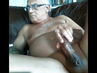 Likeaolder Grandpa 61 Y D Jerking Off His Fat Cock And Cum