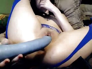 Horny Skinny Girl Fucks Her Holes With Her Toys