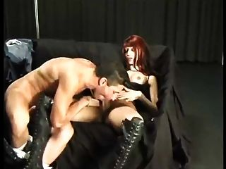 Red Haired Shemale Sucking And Fucking