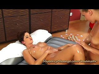 Sexy Lesbian Slippery Nuru Massage