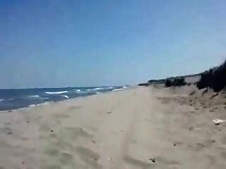 Sandra Blowing Boyfriend On The Beach
